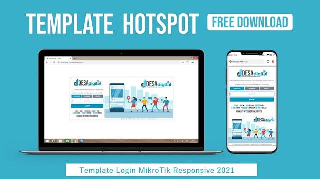 Kumpulan Template Mikrotik Hotspot Login Responsive 2021