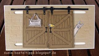 glückwunchkarte herzlichen glückwunsch tiere von der ganzen rasselbande stempelset mit barn door thinlits und stempeln von stampin up demonstratorin in coburg