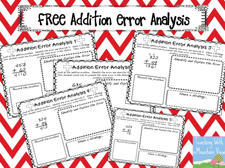 Teaching With a Mountain View: Error Analysis for Enrichment and ...