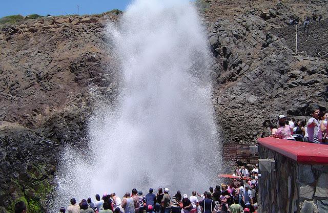 La bufadora de Ensenada en Baja California