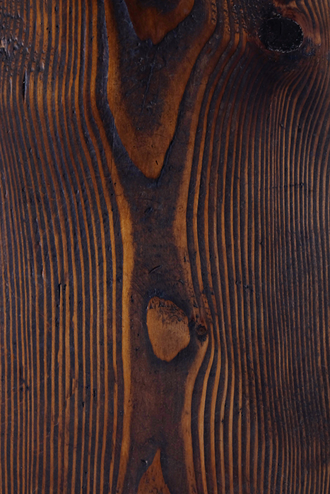 close up of stained pine wood
