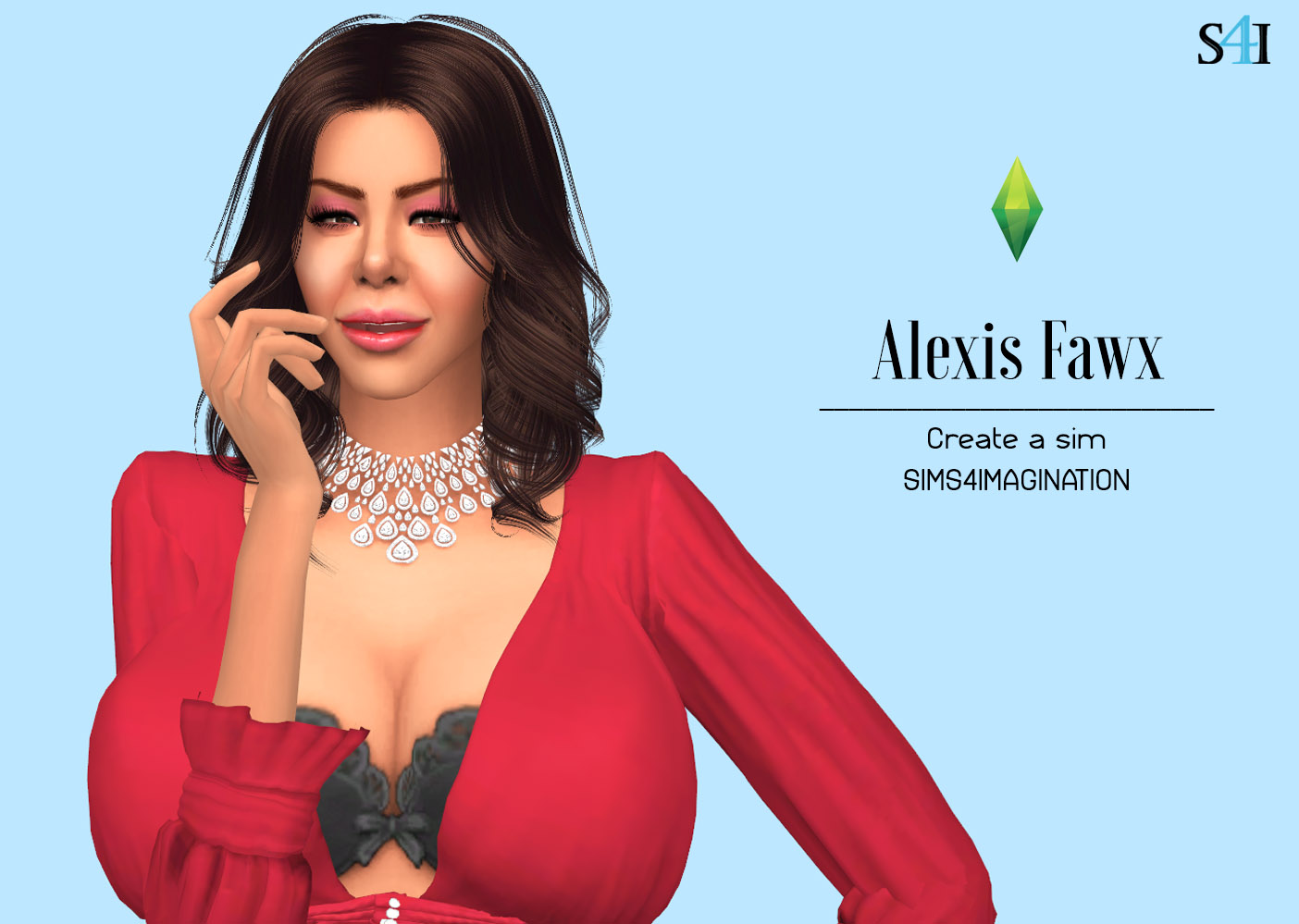 My Sims 4 CAS: Alexis Fawx (Patreon)