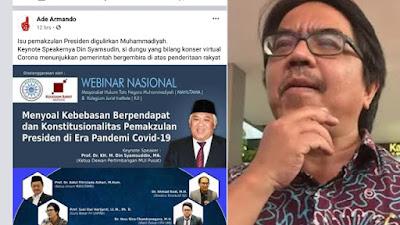 Ade Armando Fitnah dan Hina Din Syamsuddin