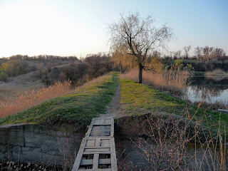 Ставок на річці Сінній. Гребля