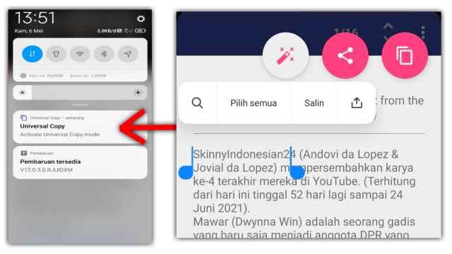 Cara Salin Teks dari Aplikasi di HP Android