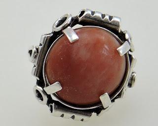 Ogromny pierścień punca CS srebro 800