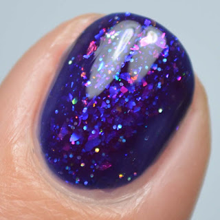 purple jelly flakie nail polish