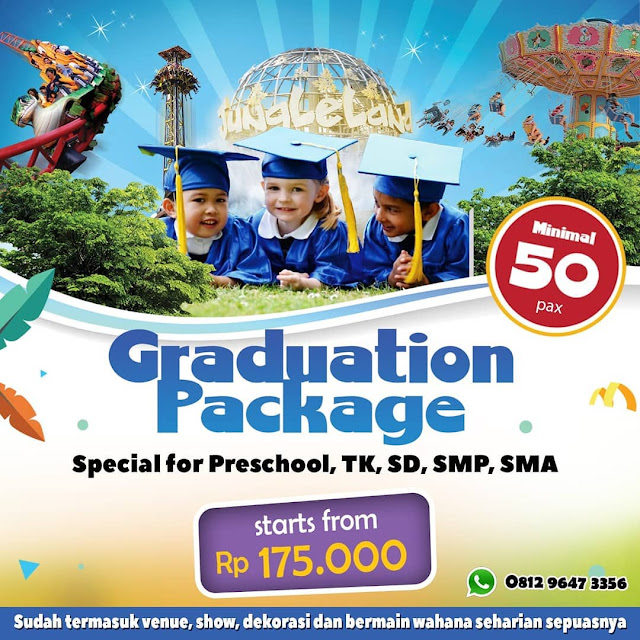 #JungleLand - #Promo Graduation Package TK SD SMP & SMA Mulai 175K