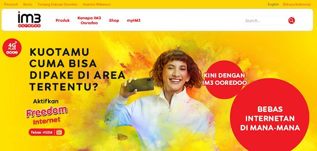 Freedom Internet dari Indosat IM3 Ooredoo
