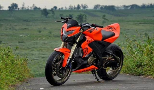 Modifikasi Motor Yamaha Vixion Jingga