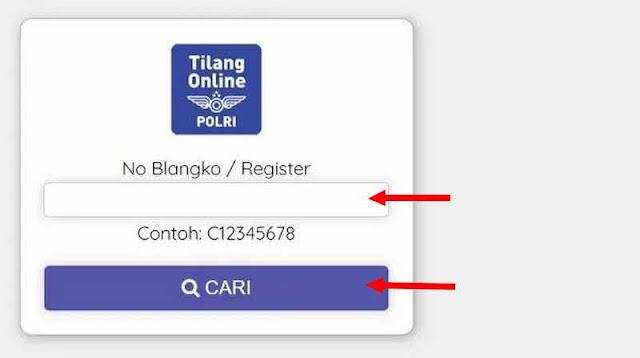 cara cek tilang secara online di situs etilang polri