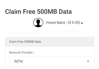 Latest: Get Free MTN 500MB Data via 20bids App - Android Home - Free