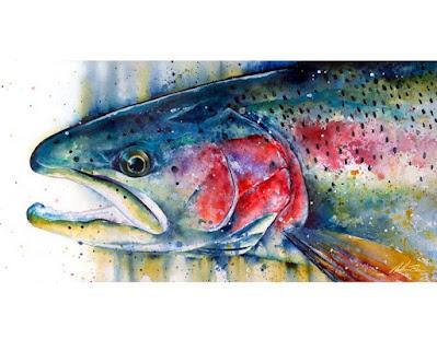 Nathan Brown, Trout Art, Fish paintings, Fishing Art, Fly Fishing Art, Texas Freshwater Fly Fishing, TFFF, Fly Fishing Texas, Texas Fly Fishing, Fly Fishing