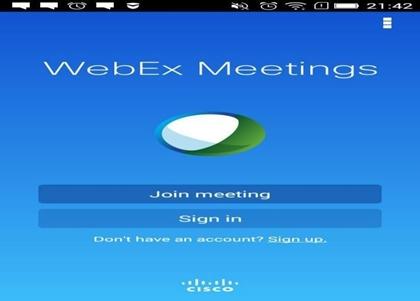 Webex App View
