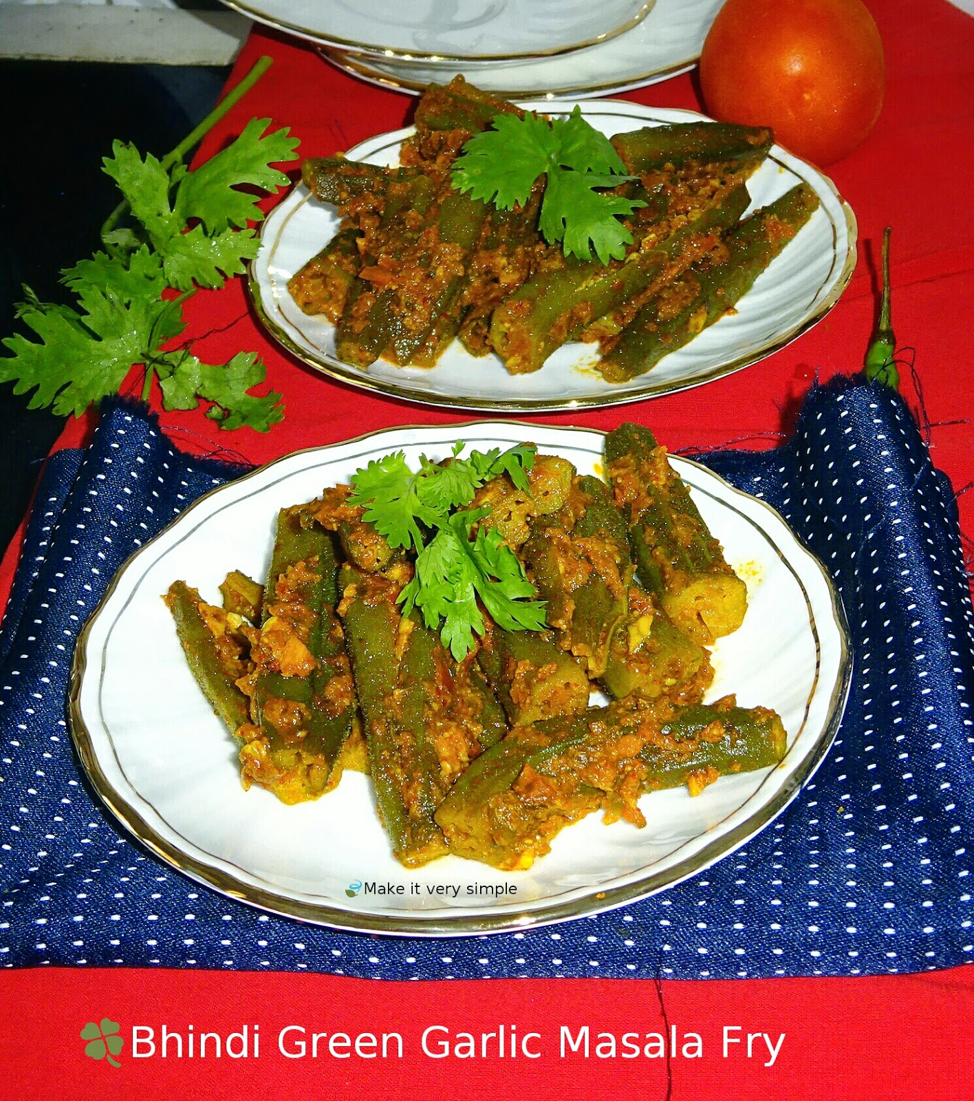 Bhindi Green Garlic Masala Fry..
