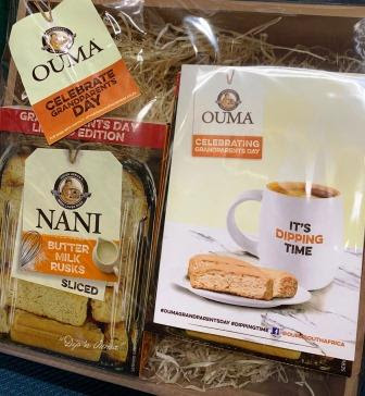 2 limited edition Ouma Rusks boxes with celebrate Grandparents Day sticker