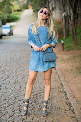 vestido jeans como usar