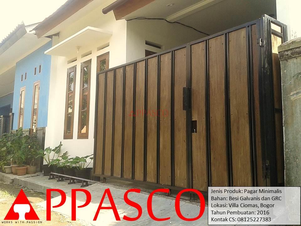 Pagar Minimalis GRC di Villa Ciomas Bogor