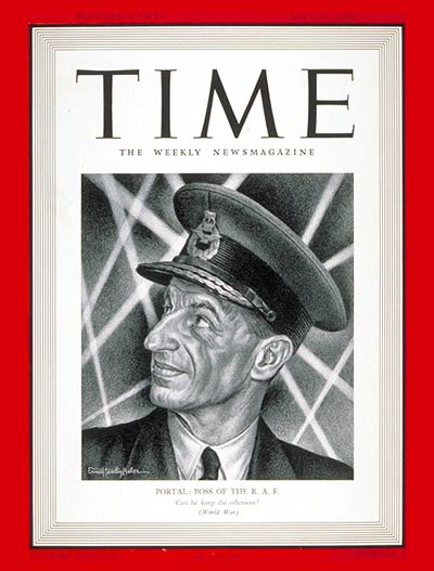 Time magazine, Sir Charles Portal, 28 July 1941 worldwartwo.filminspector.com