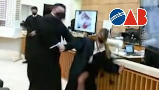 oab apurar advogado simulou esganadura colega