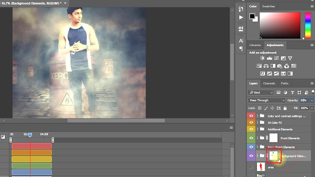 How to animate Smoke Photoshop actions Screenshot 4
