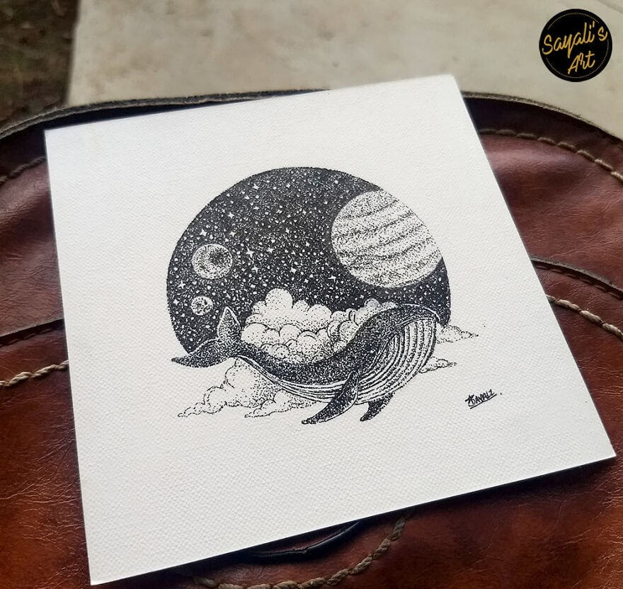 07-In-The-Galaxy-Sayali-Horambe-Stippling-Dots-and-Creating-Drawings-www-designstack-co