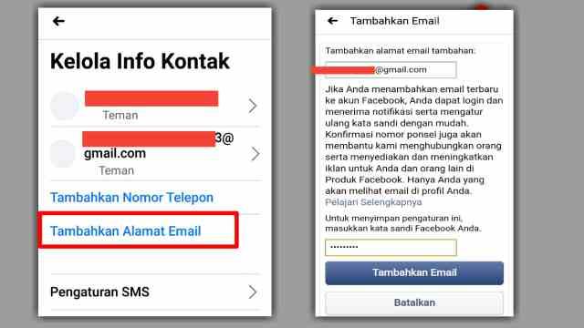Cara Mengganti & Menghapus Email Utama Facebook