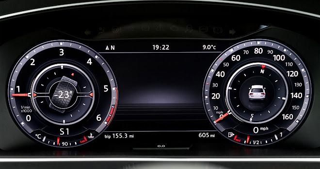 Volkswagen Tiguan digital instruments