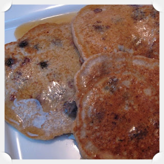Whole Grain Blueberry Pancakes