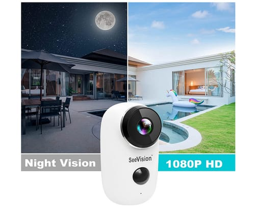 SeeVision A3 Wireless Rechargeable Battery Powered WiFi Camera