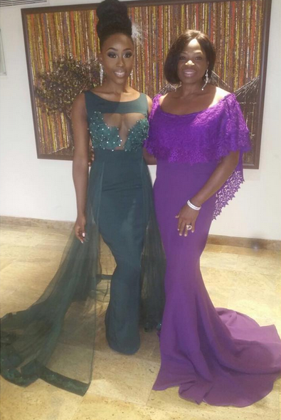 Beverly Naya and Mother