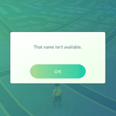Mengatasi Error Nickname Isn't Available Pokemon GO image