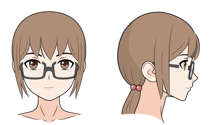 Kacamata anime di hidung