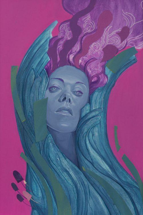 Michael Camarra arte pinturas surreais mulheres mitologia onírica