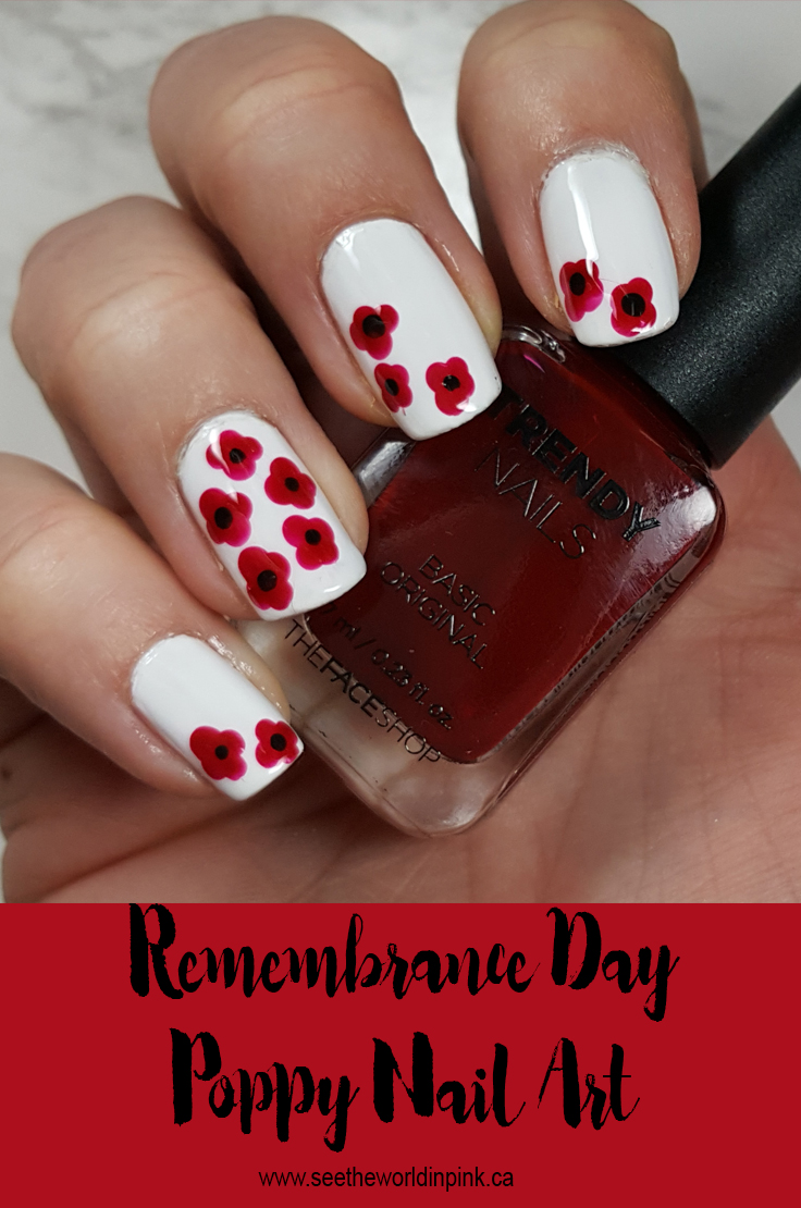 Manicure Sunday - Remembrance Day Poppy Nails