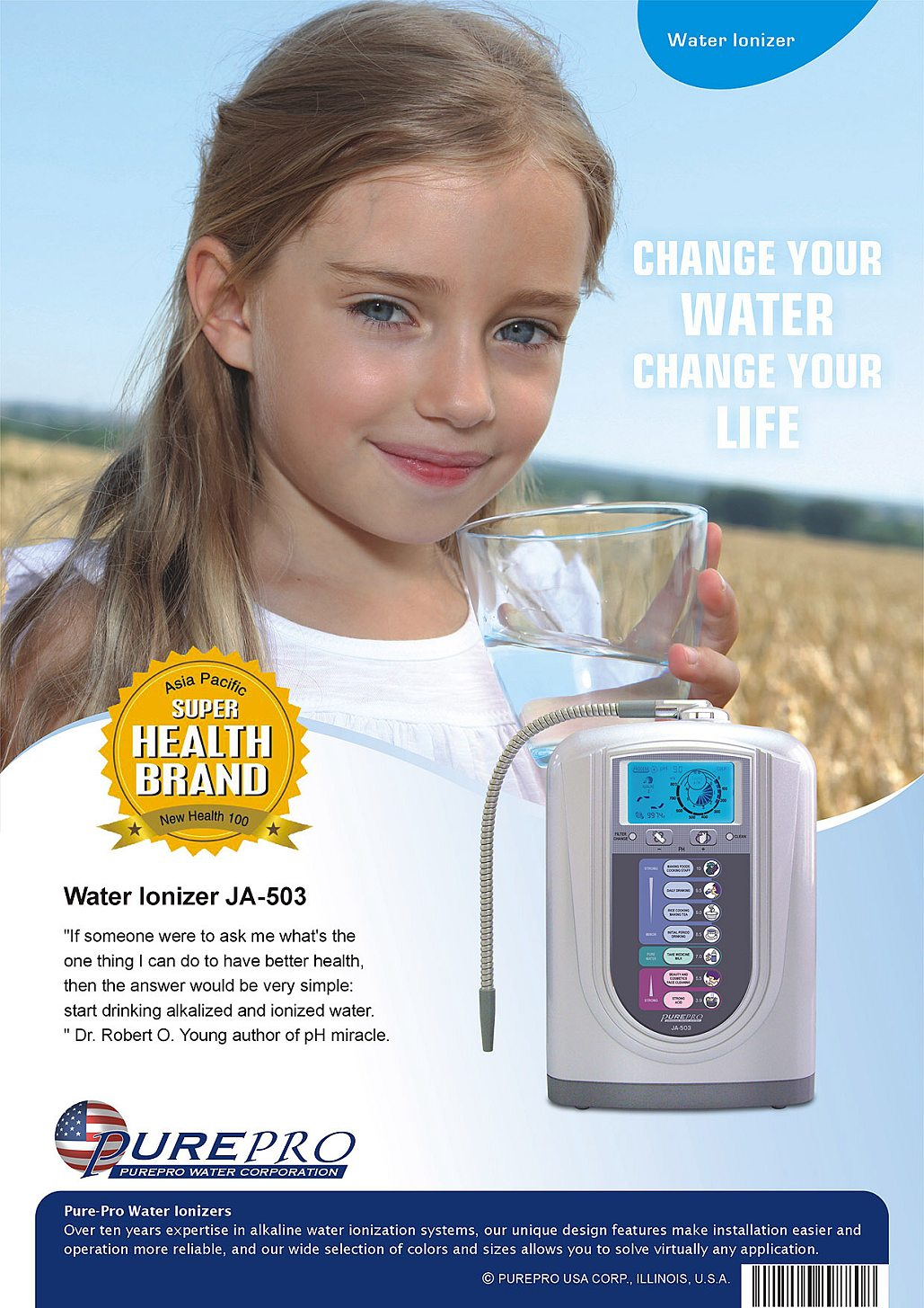 Best Water Ionizer That You Can Use In 2021  :  PurePro Water Ionizer JA-503