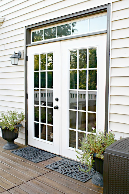 How to paint glass patio doors