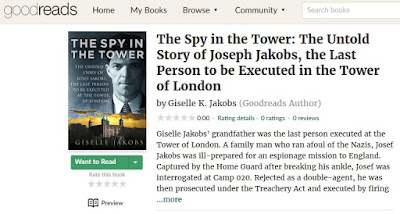 Screenshot of The Spy in the Tower's page on Goodreads
