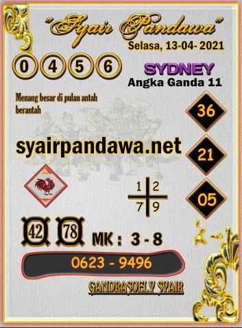 Gambar Syair Pandawa Sidney selasa 13 april 2021
