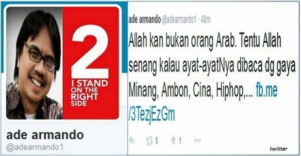 Karena Cuitannya di Twitter, Dosen UI Ade Armando Jadi Tersangka UU ITE