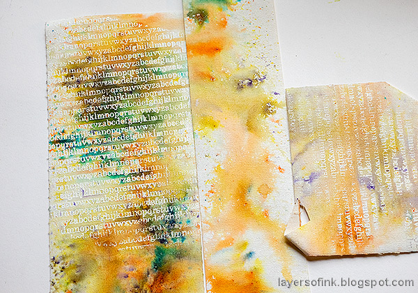 Layers of ink - Stitched Canvas Tag Tutorial by Anna-Karin Evaldsson.