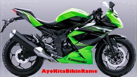 Gambar Foto Motor Kawasaki Ninja 250 RR Mono ABS Warna Hijau