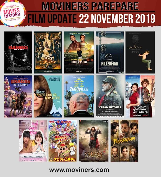 FILM UPDATE 22 NOVEMBER 2019