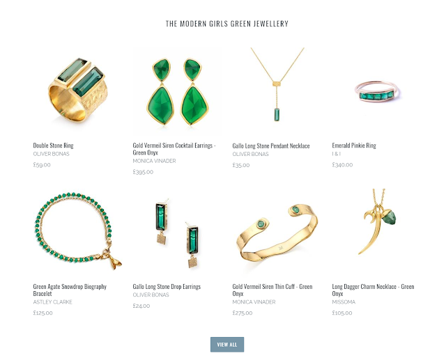 The Modern Girls Green Jewellery Collection