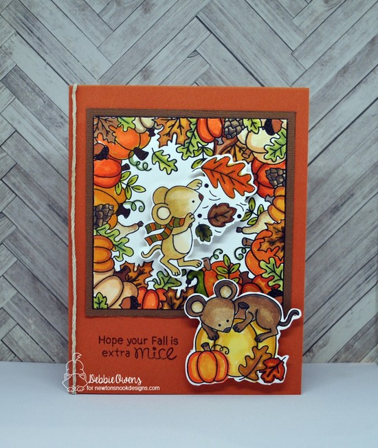 Hope your fall is extra mice by Debbie features Autumn Mice and Fall Fringe by Newton's Nook Designs; #newtonsnook