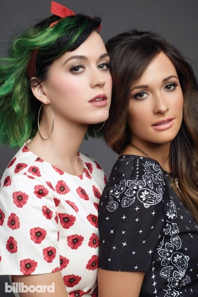 Katy Perry and Kacey Musgraves get together for Billboard Magazine June 2014