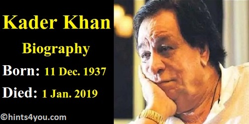 Do you know Kader Khan: