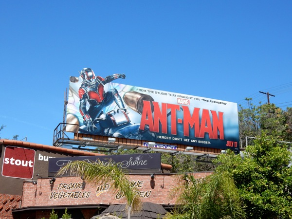 AntMan special movie billboard