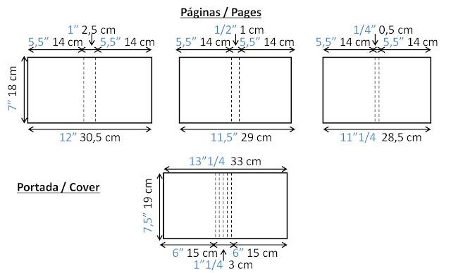 medidas album materiales basicos