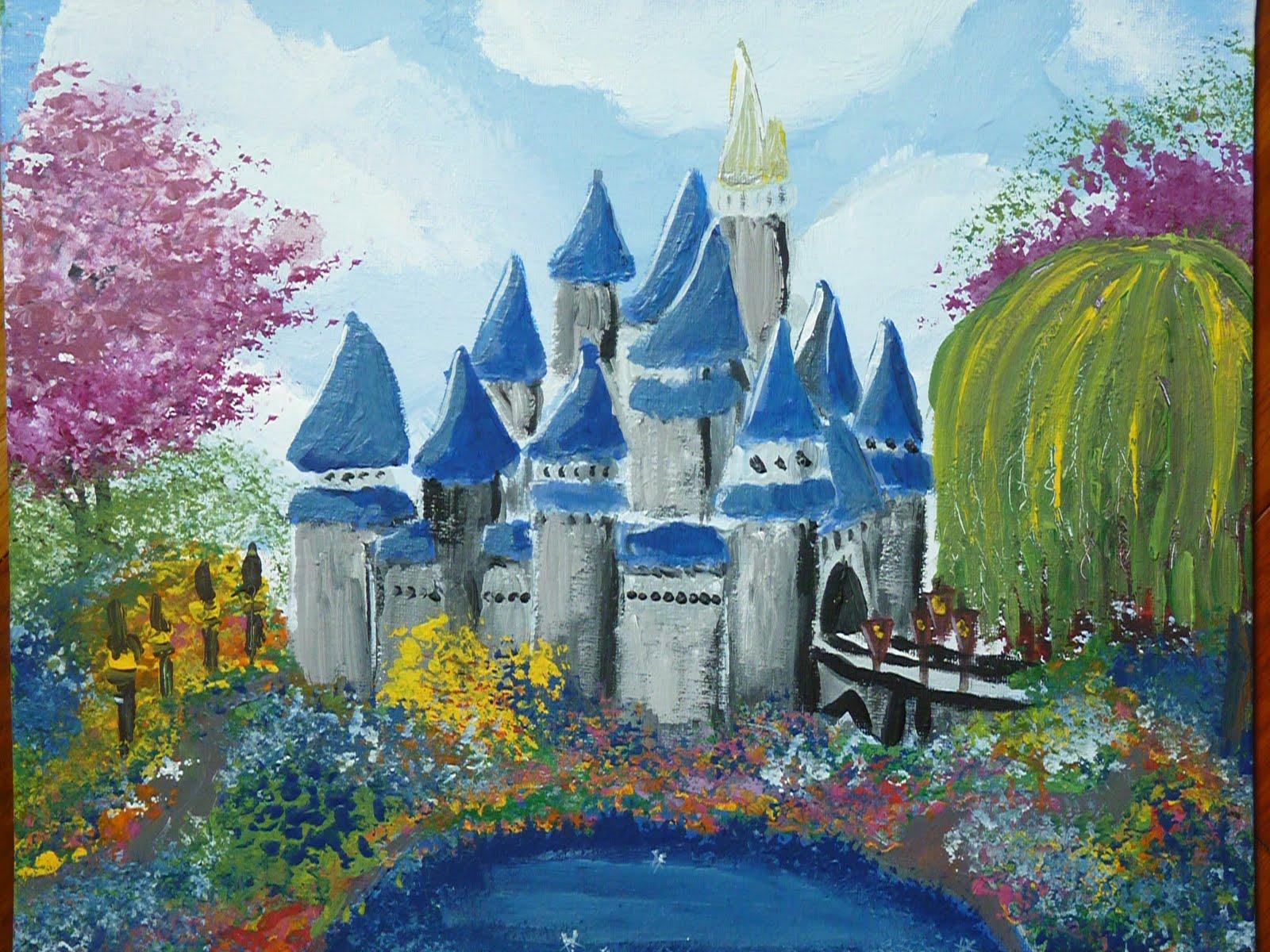 Disney Castle Acrylic Paint